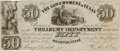 Miscellaneous, [Republic of Texas Currency]. Government of Texas $50 TreasuryNote....