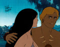 Animation Art:Production Cel, Fire and Ice Larn and Teegra Production Cel (RalphBakshi/20th Century Fox, 1983)....