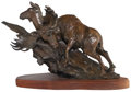 Sculpture, Sherry Salari-Sander (American, b. 1941). Fall Reunion, 1985. Bronze with brown patina. 12-1/2 inches (31.8 cm) high on ...