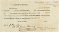 Miscellaneous, Thomas H. Borden Docketed Auditor's Office Form. ...