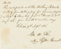 Autographs:Military Figures, [Texian Revolution]. George W. Poe Document Signed. ...