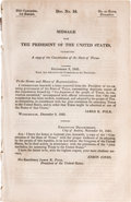 Books:Americana & American History, [Texas]. Message From the President of the United StatesTransmitting a Copy of the Constitution of the State ofTexas...