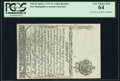 Colonial Notes:New Hampshire, New Hampshire April 1, 1737 2s Cohen Reprint PCGS Very Choice New64.. ...