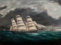 Fine Art - Painting, American:Modern  (1900 1949)  , C. Bulley (American, 20th Century). Sailing in the Storm.Oil on canvas. 23 x 30-1/2 inches (58.4 x 77.5 cm). Signed low...