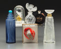 Art Glass:Lalique, Six Various Lalique Perfume Bottles, 20th century. Marks to all:Lalique France; LALIQUE. 5 inches high (12.7 cm)(t... (Total: 6 Items)