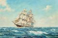 Maritime:Paintings, John Terry (American, 1880-1934). Sussex Ship . Oil oncanvas. 20 x 30 inches (50.8 x 76.2 cm). Signed lower left:Joh...