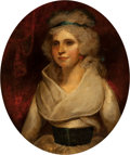Fine Art - Painting, European:Antique  (Pre 1900), School of John Hoppner . Portrait of Miss Harriet Bladen,Countess of Essex. Oil on canvas. 28 x 23-1/2 inches (71.1 x5...