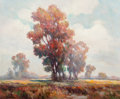 Fine Art - Painting, American:Modern  (1900 1949)  , Frederick Pawla (American, 1876-1964). Autumn Landscape. Oilon canvas. 25 x 30 inches (63.5 x 76.2 cm). Signed lower le...