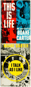 Books:Americana & American History, Boake Carter. Pair of First Editions. New York: Dodge, [1937]....(Total: 2 Items)
