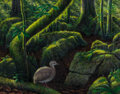 Fine Art - Painting, American:Contemporary   (1950 to present)  , F. P. Bennett (American, 20th Century). Thicket Tinamou,2002. Oil on canvas laid on masonite. 21 x 26-3/4 inches (53.3 ...
