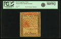 Colonial Notes:Pennsylvania, Pennsylvania April 10, 1775 5 Pounds Fr. PA-176. PCGS Choice AboutNew 58PPQ.. ...