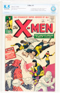 Silver Age (1956-1969):Superhero, X-Men #1 (Marvel, 1963) CBCS VF+ 8.5 Off-white to white pages....