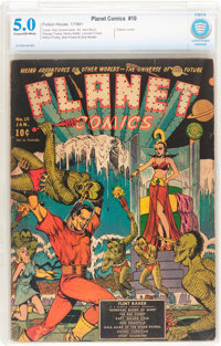 Planet Comics #10 (Fiction House, 1941) CBCS VG/FN 5.0 Cream to off-white pages