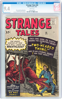 Strange Tales #95 (Marvel, 1962) CGC NM 9.4 White pages