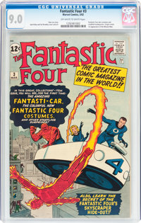 Fantastic Four #3 (Marvel, 1962) CGC VF/NM 9.0 Off-white to white pages