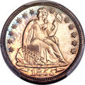 Proof Seated Dimes, 1855 10C Arrows, F-101, R.7, PR64 Cameo PCGS. CAC....