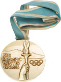 "Hockey Collectibles:Others, 1980 U.S. Hockey ""Miracle on Ice"" Olympic Gold Medal Presented to Dave Christian...."
