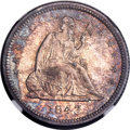 Proof Seated Quarters, 1843 25C PR64 NGC. Briggs 4-E....