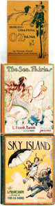 Books:Children's Books, [L. Frank Baum]. Group of Three Books by or about Baum. Variouspublishers, [Circa 1920 - 1976].... (Total: 3 Items)