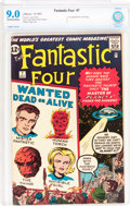 Silver Age (1956-1969):Superhero, Fantastic Four #7 (Marvel, 1962) CBCS VF/NM 9.0 Off-white to white pages....