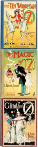 Books:Children's Books, L. Frank Baum. Group of Three Reprint Edition OZ Books.Chicago: Reilly & Lee, [n.d., Circa 1920 - 1335].... (Total: 3Items)