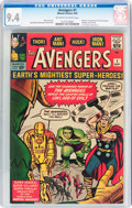 Silver Age (1956-1969):Superhero, The Avengers #1 (Marvel, 1963) CGC NM 9.4 Off-white to white pages....