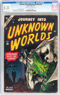 Golden Age (1938-1955):Horror, Journey Into Unknown Worlds #27 (Atlas, 1954) CGC VG/FN 5.0 Creamto off-white pages....