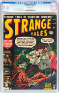 Golden Age (1938-1955):Horror, Strange Tales #12 (Atlas, 1952) CGC FN/VF 7.0 Off-white pages....