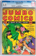 Golden Age (1938-1955):Science Fiction, Jumbo Comics #10 (Fiction House, 1939) CGC VG- 3.5 Cream tooff-white pages....