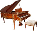Other:European, A Louis XVI-Style Gaveau Gilt Bronze Mounted Satinwood and MahoganyPiano with Associated Bench, circa 1900 and later. 38-1... (Total:2 Items)
