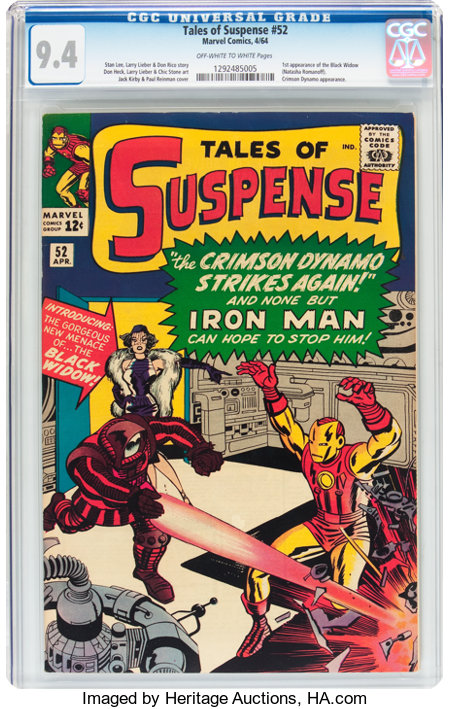 Tales of Suspense #52 (Marvel, 1964) CGC NM 9.4 Off-white to white pages....