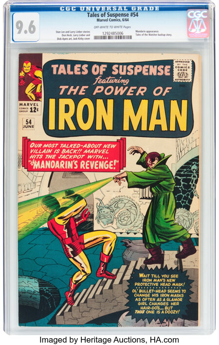 Tales of Suspense #54 (Marvel, 1964) CGC NM+ 9.6 Off-white to white pages....