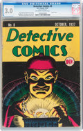 Platinum Age (1897-1937):Miscellaneous, Detective Comics #8 (DC, 1937) CGC GD/VG 3.0 Off-white to white pages....