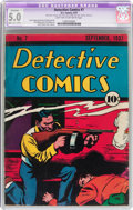 Platinum Age (1897-1937):Miscellaneous, Detective Comics #7 (DC, 1937) CGC Apparent VG/FN 5.0 Moderate toExtensive (B-4) Light tan to off-white pages....