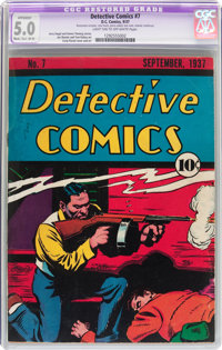 Detective Comics #7 (DC, 1937) CGC Apparent VG/FN 5.0 Moderate to Extensive (B-4) Light tan to off-white pages