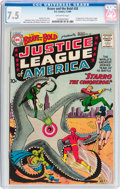 Silver Age (1956-1969):Superhero, The Brave and the Bold #28 Justice League of America (DC, 1960) CGCVF- 7.5 Off-white pages....