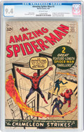 Silver Age (1956-1969):Superhero, The Amazing Spider-Man #1 (Marvel, 1963) CGC NM 9.4 Off-white pages....