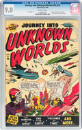 Golden Age (1938-1955):Science Fiction, Journey Into Unknown Worlds #36 (#1) (Atlas, 1950) CGC VF/NM 9.0Off-white pages....