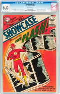 Silver Age (1956-1969):Superhero, Showcase #4 The Flash - Savannah Pedigree (DC, 1956) CGC FN 6.0Off-white pages....