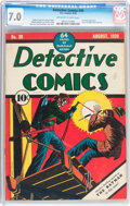 Golden Age (1938-1955):Superhero, Detective Comics #30 (DC, 1939) CGC FN/VF 7.0 Off-white to white pages....