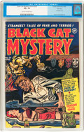 Golden Age (1938-1955):Horror, Black Cat Mystery #34 File Copy (Harvey, 1952) CGC NM- 9.2 Cream tooff-white pages....
