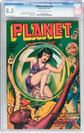 Golden Age (1938-1955):Science Fiction, Planet Comics #44 (Fiction House, 1946) CGC VF+ 8.5 Off-white towhite pages....