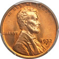 Lincoln Cents, 1932-D 1C MS67 Red PCGS....