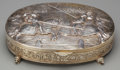 Silver Holloware, Continental:Holloware, A German Silver Figural Table Box, late 19th century. Marks:925, (crescent, crown, effaced mark). 2-5/8 inches high x1...