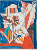Prints, Larry Rivers (American, 1925-2002). Astaire in the Air, 1990. Screenprint in colors on paper. 54-3/4 x 40 inches (139.1 ...