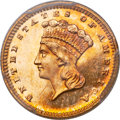 Proof Gold Dollars, 1880 G$1 PR64 PCGS. CAC....