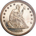 Proof Seated Quarters, 1865 25C PR65 Cameo PCGS Secure....