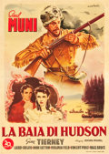 "Movie Posters:Adventure, Hudson's Bay (20th Century Fox, 1946). First Post-War ReleaseItalian 2 - Fogli (38"" X 55"") Alfredo Capitani Artwork.. ..."