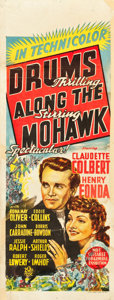 "Movie Posters:Adventure, Drums Along the Mohawk (20th Century Fox, 1939). Pre-War AustralianDaybill (15"" X 39.5"").. ..."