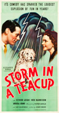 "Movie Posters:Comedy, Storm in a Teacup (United Artists, 1938). Three Sheet (41"" X78.25"").. ..."